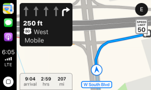 ios11 carplay apple maps lane guidance