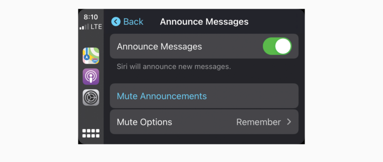 Have Siri announce new messages in Apple CarPlay with iOS15