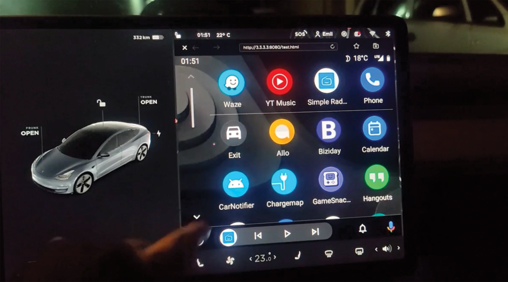 How to get Android Auto to work in a Tesla